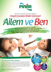 Pınar resim yarışması afişi