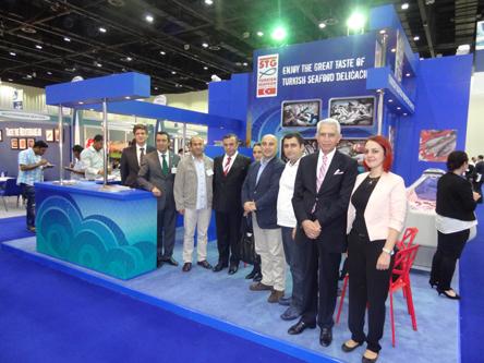 Gökay Çelikli (EİB), Ufuk Atakan Demir (STG Yönetim Kurulu Üyesi), Salih Köksal (Aydın Gıda, Tarım ve Hayvancılık İl Müdürü), Ahmet Tuncay Sagun (STG Yönetim Kurulu Üyesi, İstanbul Su Ürünleri ve Hayvansal Mamuller İhracatçıları Birliği Yönetim Kurulu Başkanı), Gülizar Yavaş (T.C. Dubai Başkonsolosluğu Ticaret Ataşesi), Zekeriya Mete (Şekerleme ve Şekerli Mamuller Tanıtım Grubu Başkanı), Sübet Çiçek (Şekerleme ve Şekerli Mamuller Tanıtım Grubu YK Üyesi), Aytaç Ekiz (Selten uluslararası Fuar Ltd. Şti Sahibi), Ayşe Ekinci (İstanbul İhracatçı Birlikleri)