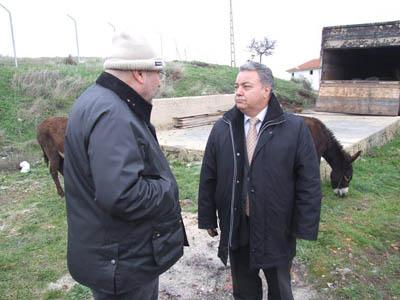 Şarköy Belediye Başkanı Süleyman Altınok,işadamı Cevat Korkmaz  ile