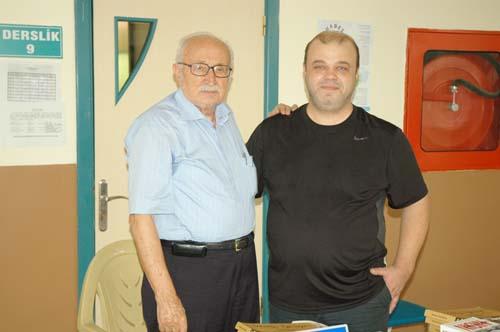 Hanri Benazus(Solda)Genel yayın Müdürümüz Serdar Konuralp ile hatıralarını paylaştı