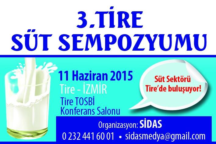 3 Tire Süt Sempozyumu