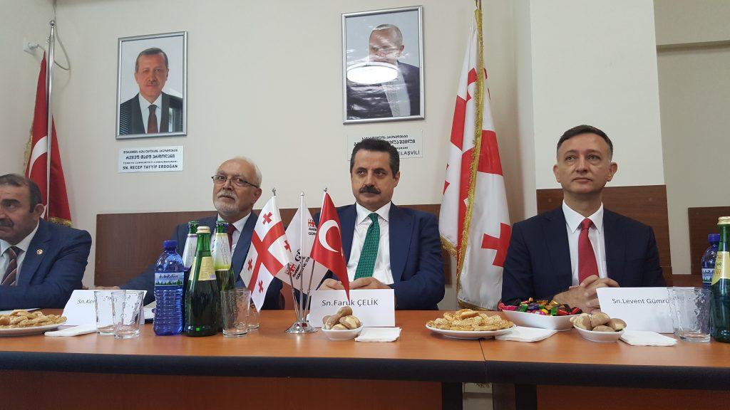 Gürcistan başkenti Tiflis'e Türkiye-Gürcistan Tarımsal Forumu'na katılmak üzere gelen Gıda Tarım ve Haycancılık Bakanı Faruk Çelik  ve beraberindeki heyet,  Gürcü ve Türk İş Adamları Derneğini (GÜRTİAD) ziyaret etti. Ziyarete GÜRTİAD Başkanı Kenan Yıldırı
