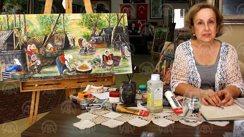 MERSİN (AA) - Küçük yaşlarda çizdiği resimlerle yurt içi ve dışında çeşitli sergiler açan Mersinli ressam Nazan Kundak, geçmişi geleceğe aktarabilmek için okuduğu kitaplardan yola çıkarak Osmanlı padişahları, padişah anneleri ve haremi anlatan yüzden fazla eser yaptı. ( Anadolu Ajansı - Melda Altakhan )